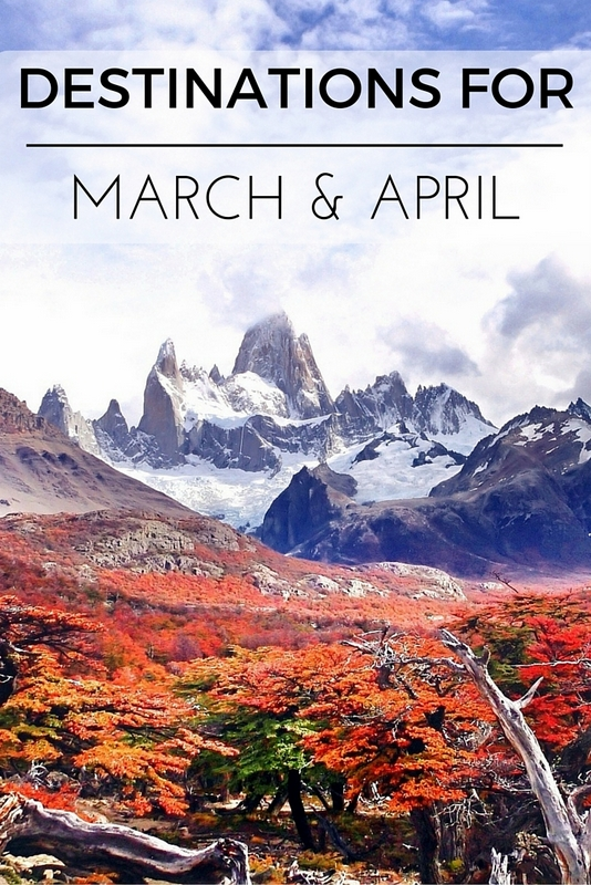 March and April can be excellent times to travel, especially with milder weather in many destinations and the Easter break to take advantage of!
