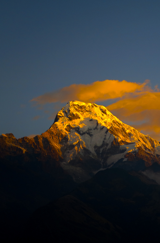 Sunrise in the Himalayas