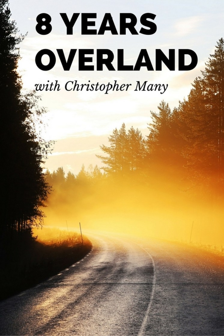 """During the eight year period from 2002 – 2010, Christopher Many set out with his 30 year old Land Rover """"Matilda"""" on an overland journey to """"go where no Landrover had ever gone before""""!"""