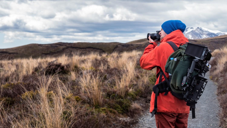 Photographer backpacker