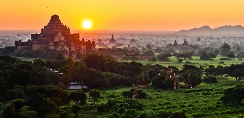 If you're not an early morning person, you need to make an exception in Myanmar. Sunrise is the most spectacular time of the day.