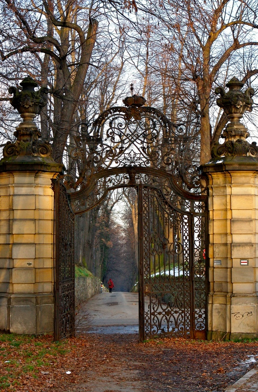 Entranceway to Książ Castle, the third largest castle in Poland.