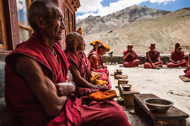 Lunch at Phuktal monastery, Zanskar, India