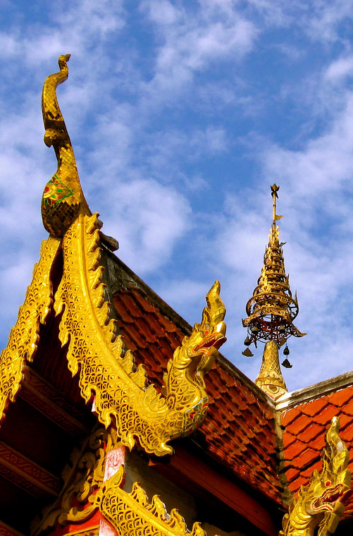A monastery on the top of the mountain in Chiang Mai.