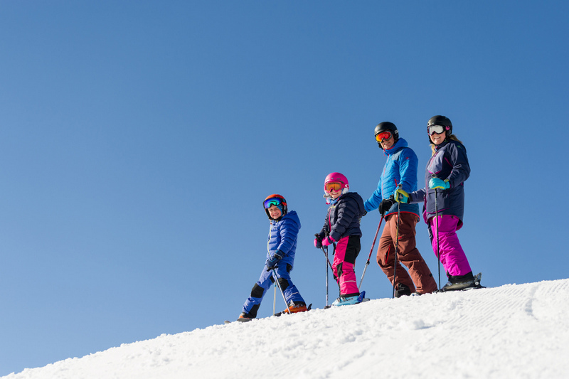 Most resorts offer easy slopes for novice skiers.