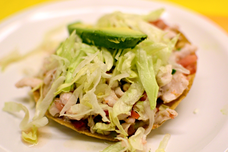 Ceviche Tostada Mexico City
