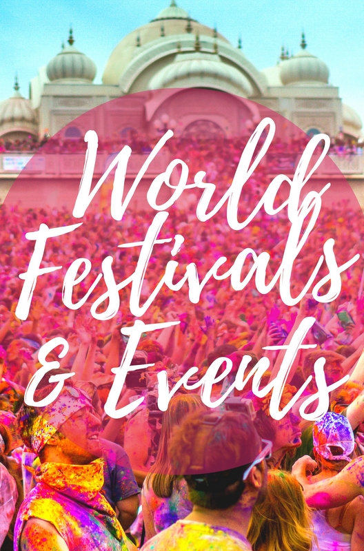 You need to bookmark this new travel website now - a free travel event calendar which provides the best info & tips for festivals events all over the world!
