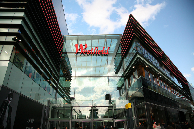 Westfield mall in Stratford City.