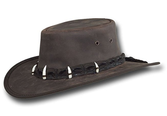 Outback Crocodile Leather Hat