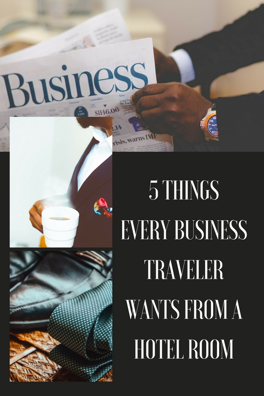 Whether you're a hotel looking for ideas, or a first time business traveler, the following are 5 things business travelers want in their hotel room.