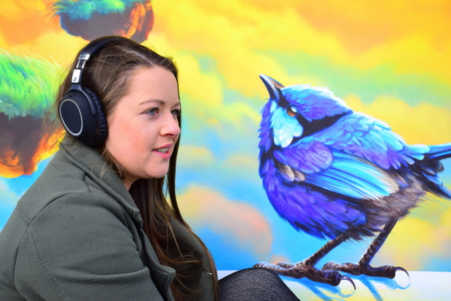 Wearing these headphones creates your own aural space