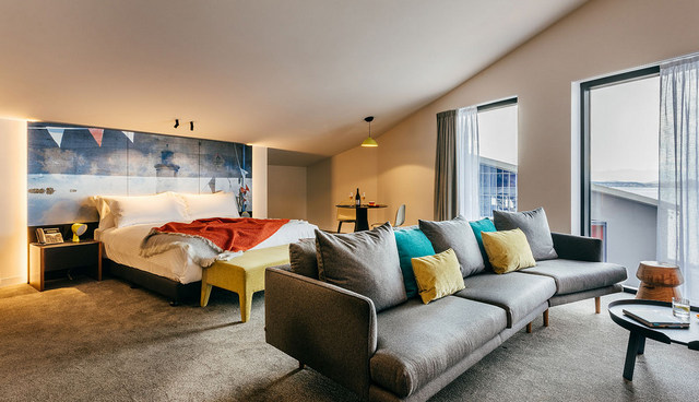 Rooms are overly spacious, and designed to create a uniquely Tasmanian space.
