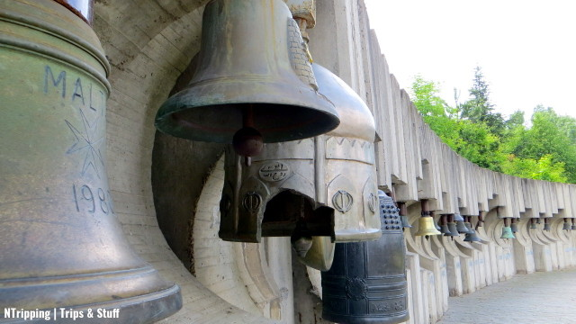 The concrete complex, erected in 1979 for a UNESCO children's festival, hosts over 100 bells from all over the world.