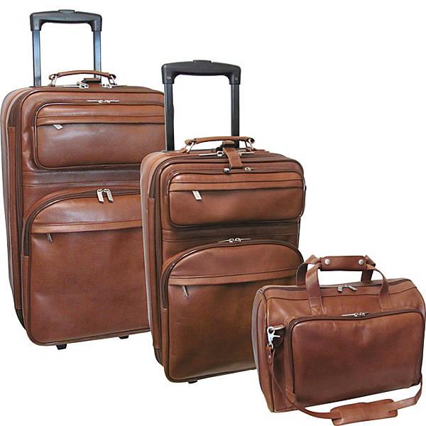 Leather 3 pc. Set Traveler