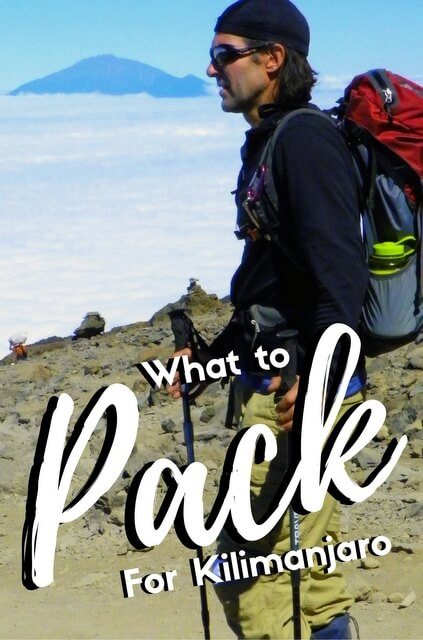 What to pack for kilimanjaro.