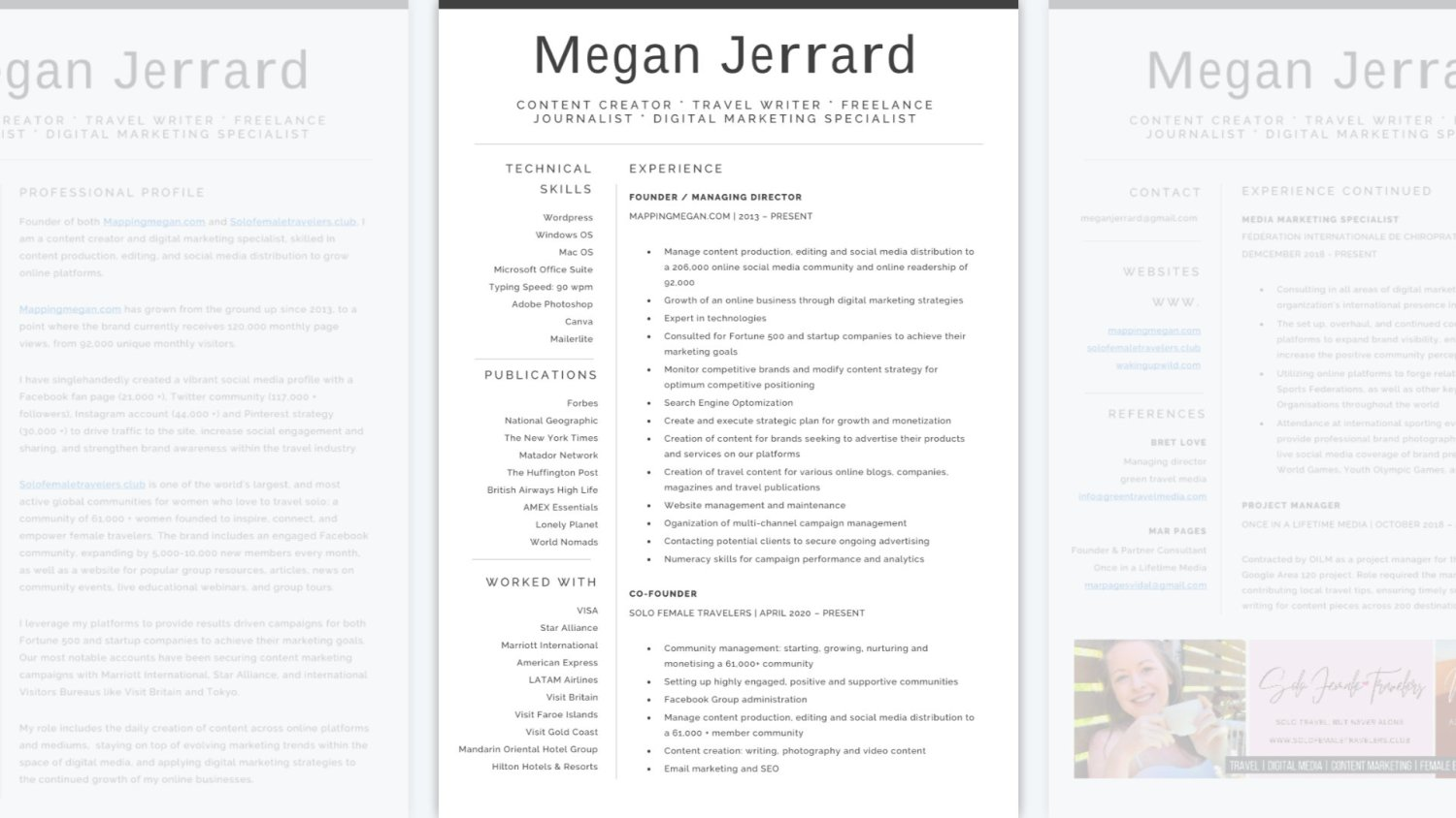 Travel look good on a resume