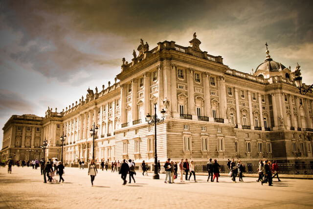 Royal Palace in Madrid.