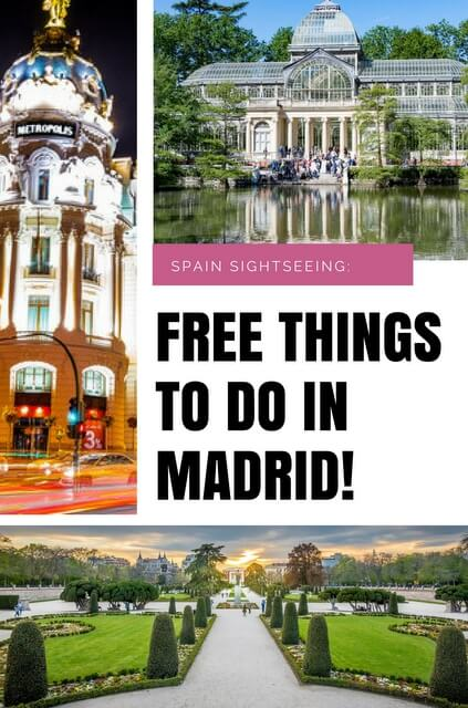 Ideas and tips of how you can fill your #Madrid break to the brim with the very best of #Spanish culture – for free! #Spain #travel