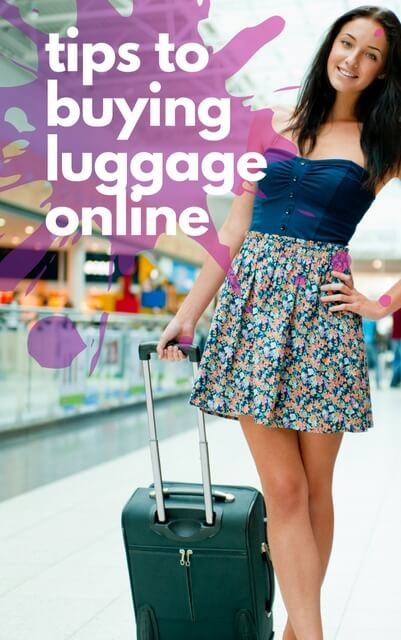 Tips for buying luggage online