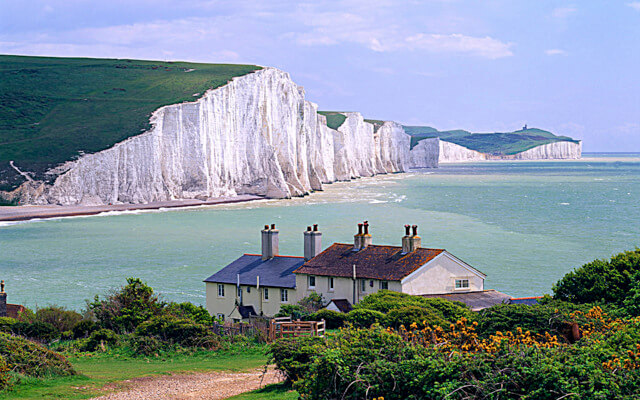 Seven Sisters cliffs, view from Seaford town