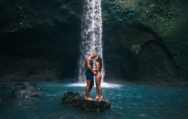 Couple waterfall love romance RF