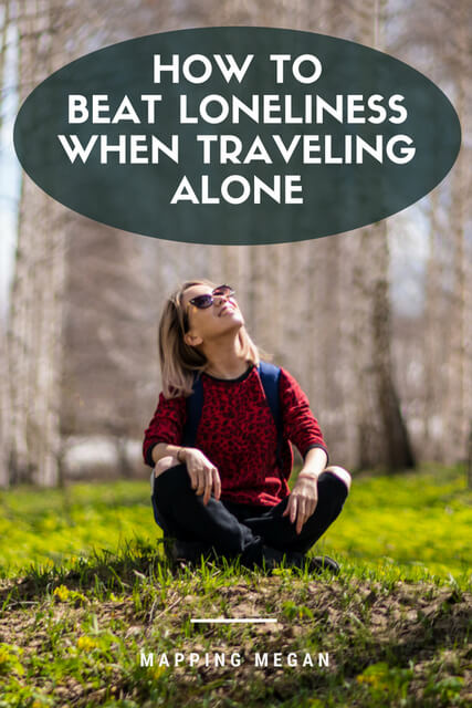 If you're feeling lonely as a solo traveler and looking for ways to beat it / find friendship this post will help you! Click through.
