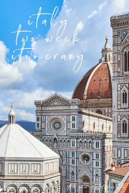 The perfect Italy Itinerary for 2 weeks. Includes all the highlights like Rome, Florence, Venice, Cinque Terre, and great spots for Italy photography over two weeks!