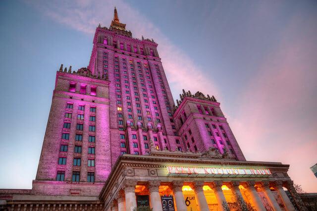 Palac Kultury i Nauki by Night - things to do in Warsaw Poland