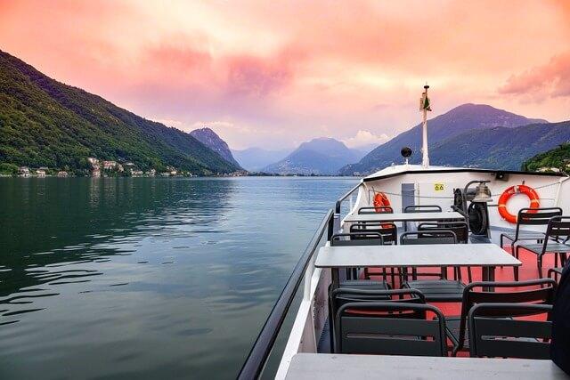 Boat on Lake Lugano RF