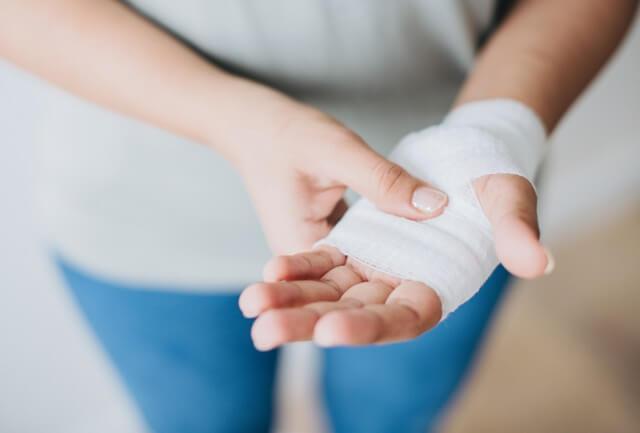 Hurt injury hand RF