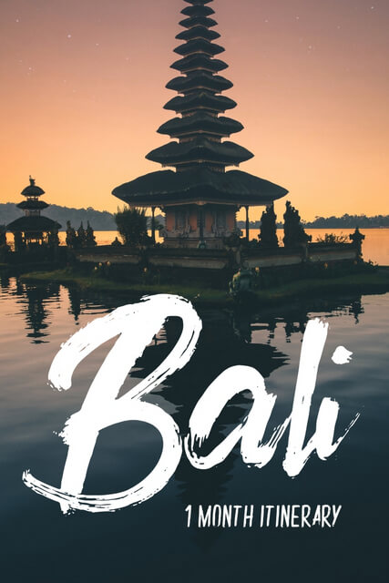 Thinking about Bali travel? If you're looking for things to do in Bali, use this one month itinerary; you'll visit all the beautiful places, and tick everything off your bucketlists, including photography. Click to see itinerary.