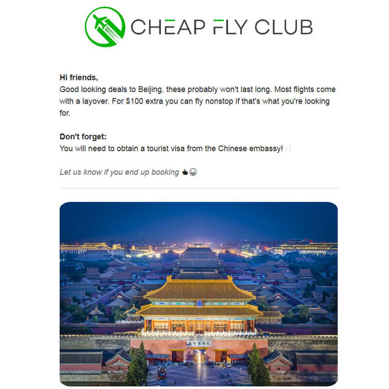 Cheap fly club cheap flights email subscription