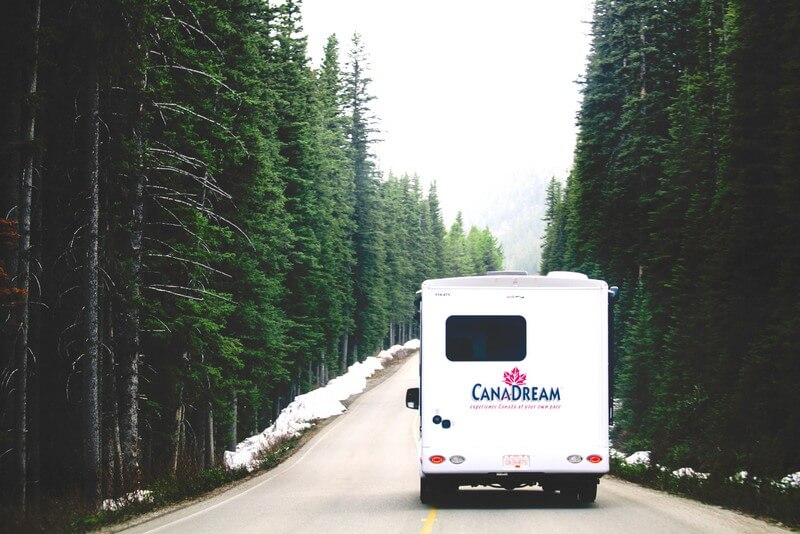 RV Campervan car drive road RF