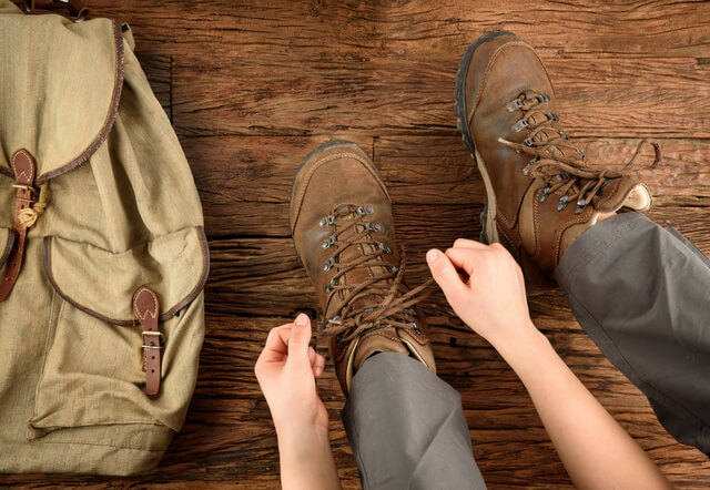 Hike travel pack shoes bag prep RF