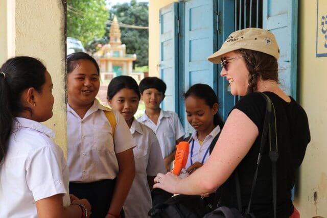 Cambodian school children in Koh Chen