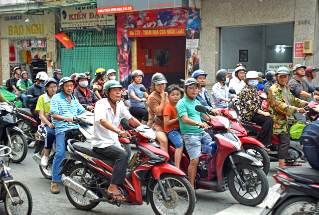 Vietnam Motorcycle traffic bike Ho Chi Minh City