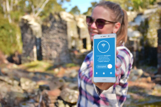 Tasmanian Ruin Phone VPN cell mobile