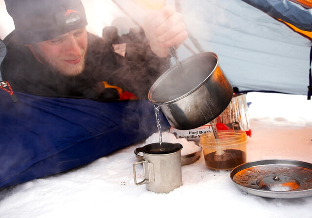 Camp food snow tent RF