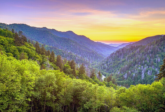 Great Smoky Mountains NP sunset sunrise RF