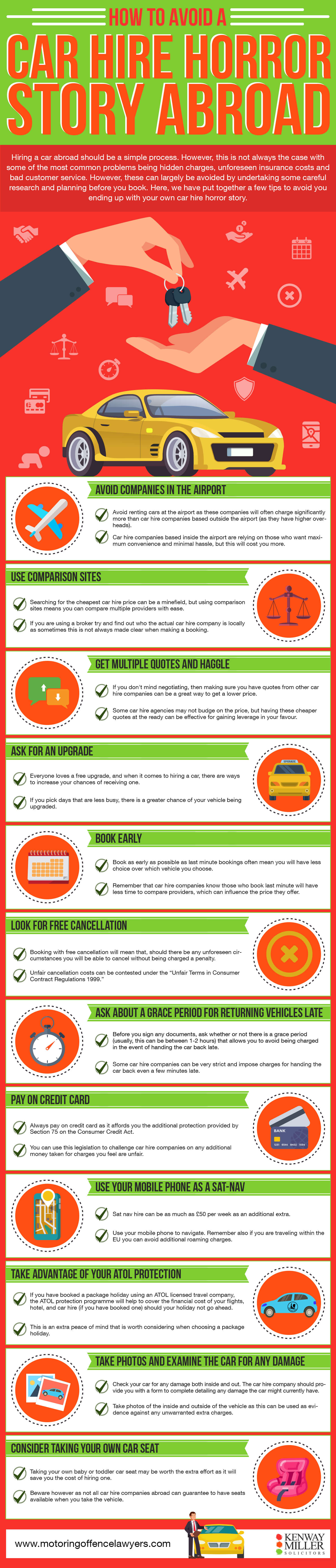 How-To-Avoid-a-Car-Hire-Horror-Story-Abroad infographic motoringoffencelawyers.com