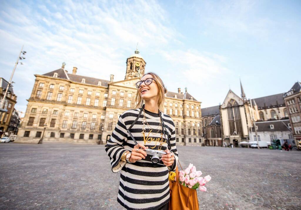 Amsterdam solo female traveler tourist city camera RF