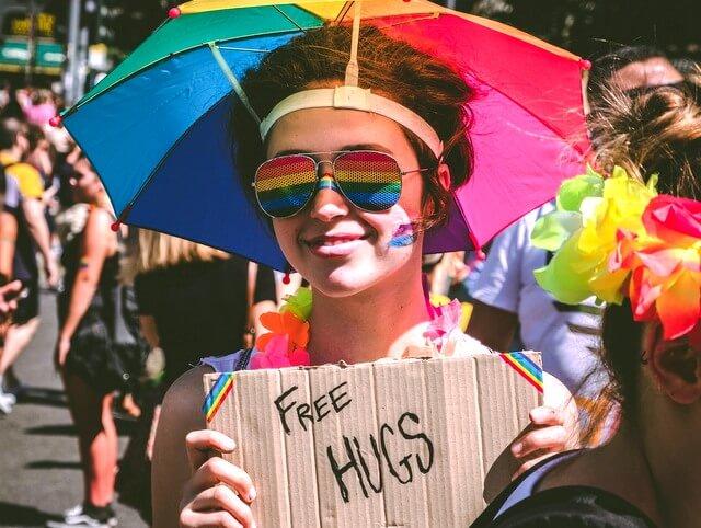 Gay pride festival free hugs RF