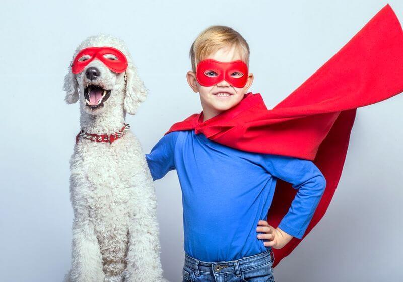 Superman child dog RF
