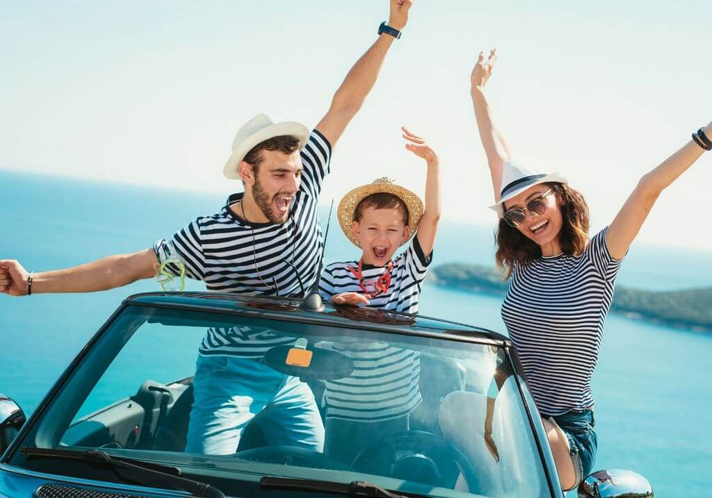 Family travel roadtrip car RF