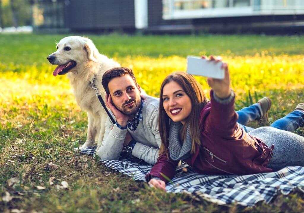 Pet couple love dog RF