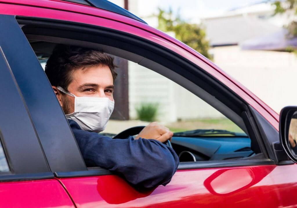 Driving roadtrip mask RF
