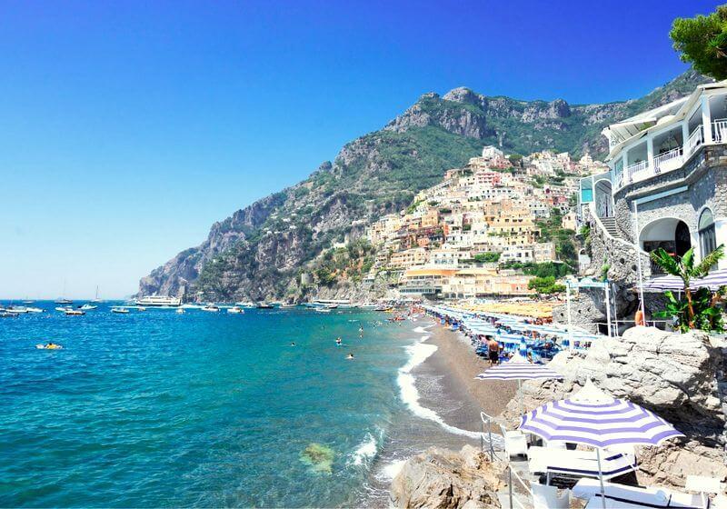 Positano beach RF Amalfi Coast Italy