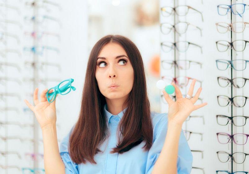Contact lenss glasses RF