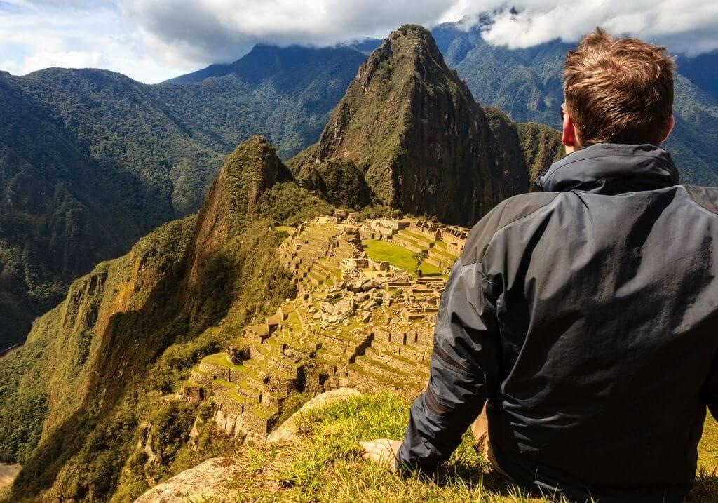 Hiker Machu Picchu Peru RF