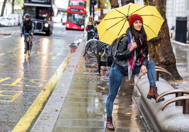 Umbrella london rain weather RF